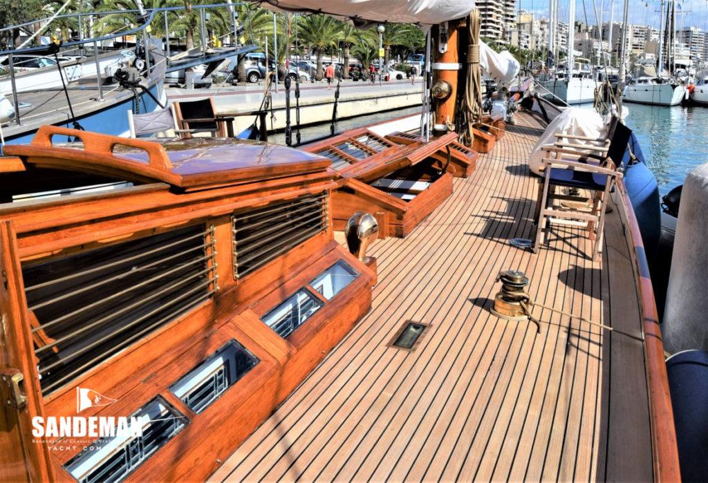 beautiful classic sailing yacht