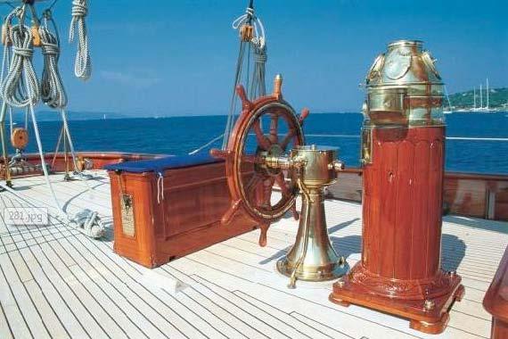 Thendara helm position binnacle brass